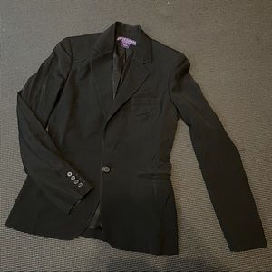 Ralph Lauren Collection Purple Label Black Wool Blazer Jacket